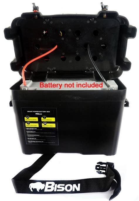 BISON BATTERY BOX CARRIER WITH USB CHARGER,LED METER