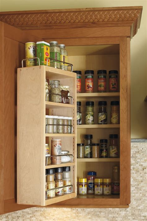 Wall Spice Rack Cabinet - Kemper Cabinetry