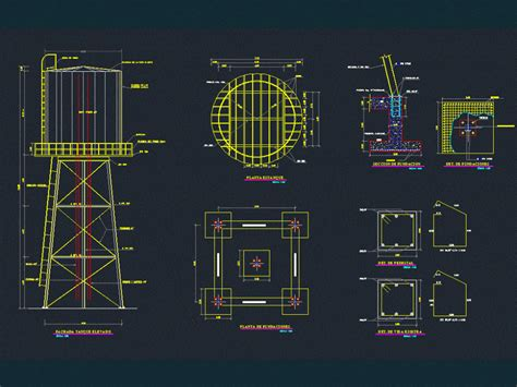 Elevated Tank DWG Detail for AutoCAD • Designs CAD