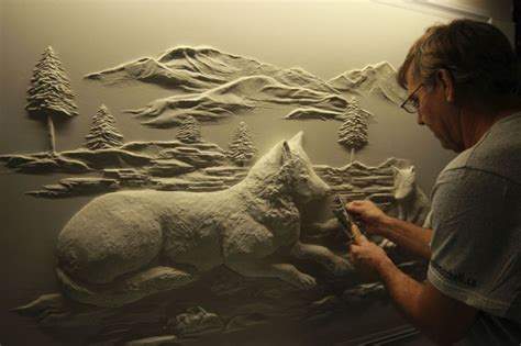 Canadian Contractor Uses the Tools of His Trade to Sculpt