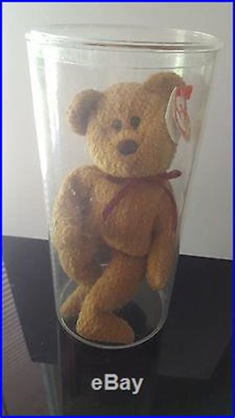 Ty Beanie Baby 1996 CURLY BEAR with very rare collectible