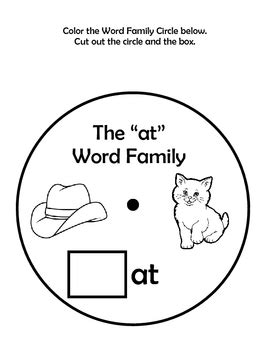 Word Family Wheels - Super Fun way to practice Word