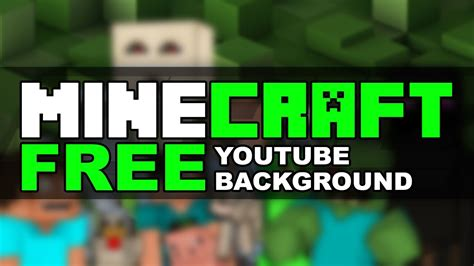 """FREE YouTube Banner: """"MINECRAFT"""" Channel Art - YouTube"""