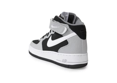 Nike Air Force 1 Mid Black Wolf Grey - Chaussures Baskets
